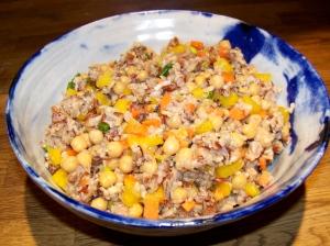 Easy rice and quinoa salad