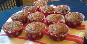 Caramelized Apple-Blackberry and Sunflower Seed Muffins